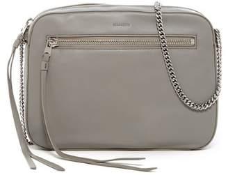 AllSaints Fleur De Lis Leather Crossbody Bag