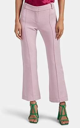 Sies Marjan Women's Danit Iridescent Crop-Flare Pants - Pink