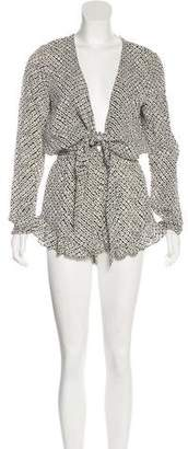 Stone_Cold_Fox Stone Cold Fox Printed Long Sleeve Romper