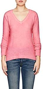 Barneys New York WOMEN'S CASHMERE V-NECK SWEATER-PINK SIZE S