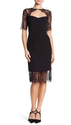 Nanette Lepore NANETTE Elbow Sleeve Lace Dress