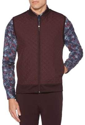Perry Ellis Big Tall Quilted Front Zip Vest