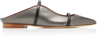 Malone Souliers by Roy Luwolt Maureen Metallic Leather Mules
