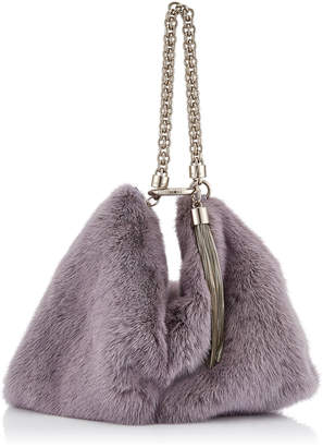Jimmy Choo CALLIE Viola Mink Fur Clutch Bag