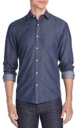 d4168d6dcc7 Michael Kors Dot-Print Slim Fit Chambray Shirt