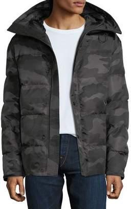 Moncler Men's Sebastien Camo Zip-Front Puffer Jacket