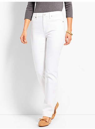 Talbots High-Rise Denim Straight-Leg - White