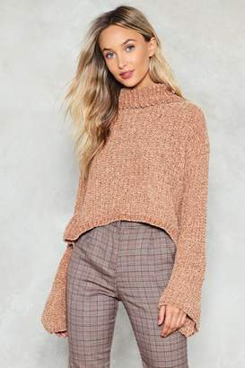 Nasty Gal Knit Guilty Chenille Sweater