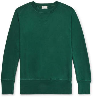 Levi's Loopback Cotton-Jersey Sweatshirt - Men - Dark green