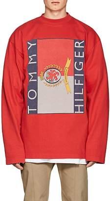 Vetements Men's Logo Cotton Oversized Long-Sleeve T-Shirt