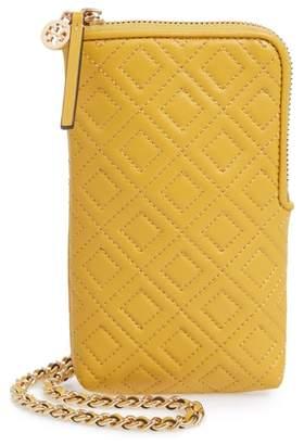 Tory Burch Fleming Lambskin Leather Phone Crossbody Bag