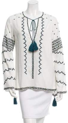 Talitha Embroidered Tassel Top w/ Tags