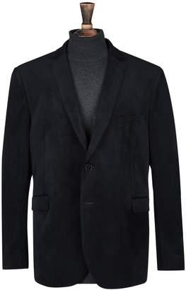 Burton Mens Big & Tall Notch Velvet Blazer