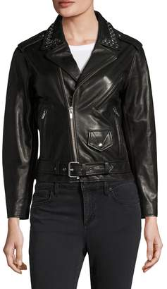 Veda Creeper Leather Motorcycle Jacket