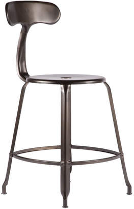 Rejuvenation Nicolle Table Stool with Back