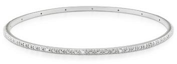 1/6 Carat Diamond Sterling Silver Bangle