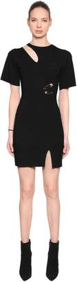 Versus Cutout Viscose Knit Dress