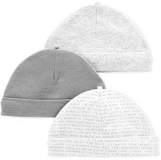 Carter's Baby Boys & Baby Girls 3-Pk. Cotton Hat