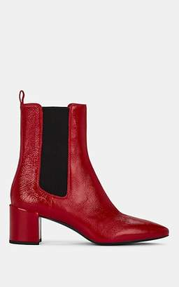 Barneys New York Women's Patent Leather Chelsea Boots - Red