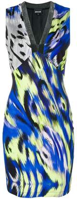 Just Cavalli short v-neck dress