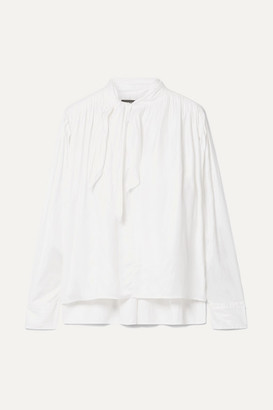 Isabel Marant Demmo Tie-detailed Crepe De Chine Blouse