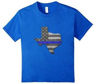 Thin Line Back The Police Texas USA Flag T-Shirt