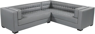 Chic Home Lorenzo Grey Leather Right Sectional