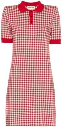 Shushu/Tong gingham knitted polo dress