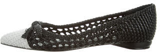 Delman Woven Pointed-Toe Flats $65 thestylecure.com