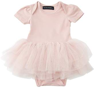Olivia Rose Onesie Tutu Dress Blush Pink 3-6 Months