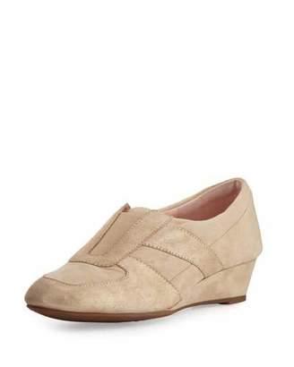Taryn Rose Pooms Traveler Patent-Trim Wedge Sneaker $229 thestylecure.com