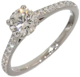 De Beers PT950 Platinum with 0.93ct Solitaire Diamond Ring Size 6