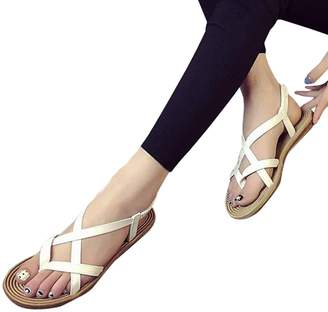 at Amazon Canada · PeepToe ANBOO Women Concise Strappy Flat Sandals Bandage Peep-Toe Outdoor Beach Gladiator Shoes (