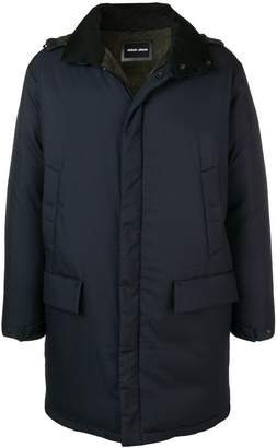 Giorgio Armani hooded padded coat