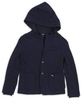 Little Boy's & Boy's Salux Cotton Hooded Jacket
