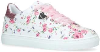 MonnaLisa Lilla Floral Sneakers