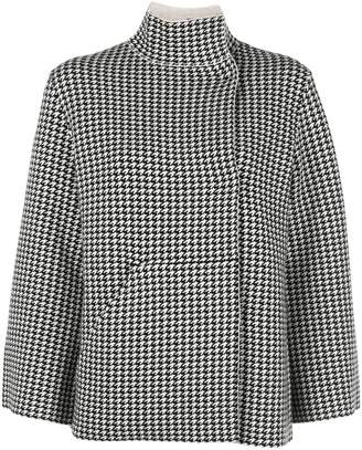 Akris reversible houndstooth cardigan