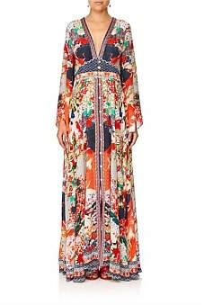 Camilla Geisha Girl Kimono Sleeve Dress W/ Shirring Detail