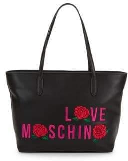 Love Moschino Rose Appliqué Tote