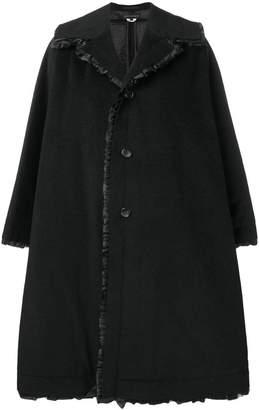 Comme des Garcons oversized frill trim coat