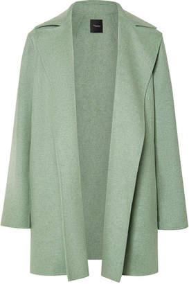 Theory Wool And Cashmere-blend Coat - Light green