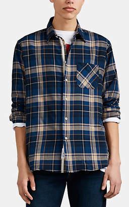 Rag & Bone Men's Plaid Herringbone-Weave Cotton Button-Front Shirt - Md. Blue