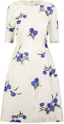 Lela Rose Holly Floral Print Dress