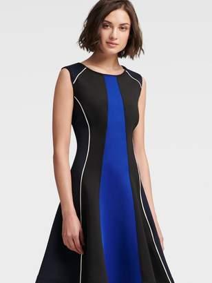 DKNY Colorblock Skater Dress