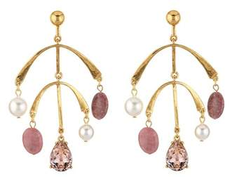 Oscar de la Renta Mobile Drop Earring with Imitation Pearl