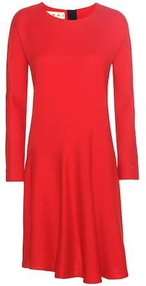 Marni Wool and silk-crêpe dress