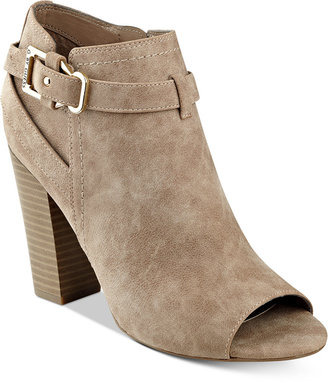 G by GUESS Julep Peep-Toe Booties $79 thestylecure.com