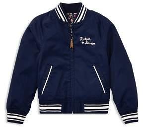 Ralph Lauren Girls' Reversible Varisty Jacket - Little Kid