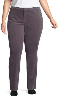 ST. JOHN'S BAY Straight Leg Cord Pant - Plus