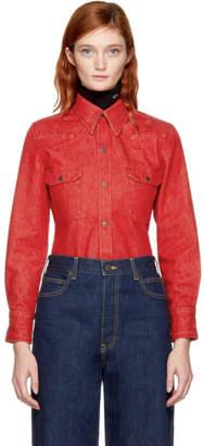 Calvin Klein Red Denim Shirt